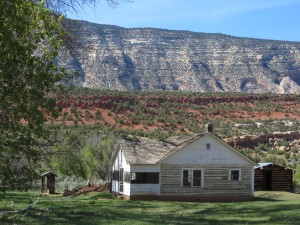 In the 1940's, Rial built the ranch house for his family. (photo: M. Kopp)