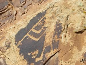 Kokopelli petroglyph in Dinosaur National Monument. (photo: M. Kopp)