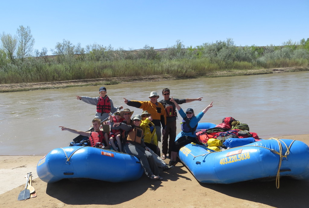 Heading out on the San Juan River, Utah (Credit: M. Kopp)