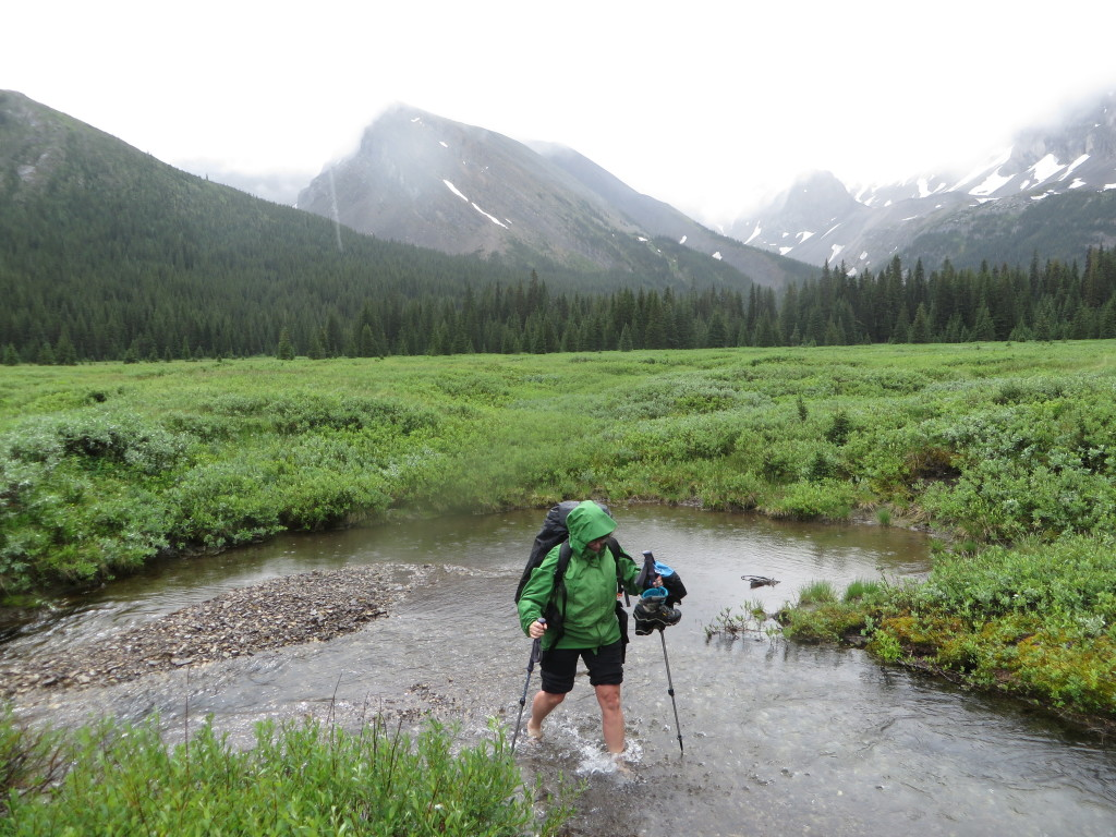 Glacial creek crossings are part of the adventure. (Photo: M. Kopp)