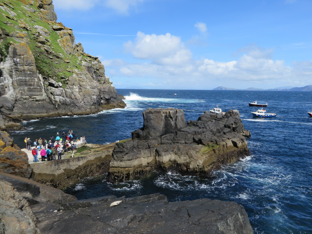 Looking back at the landing in Blind Man's Cove on Ireland's Skellig Michael. (Photo credit: M. Kopp)