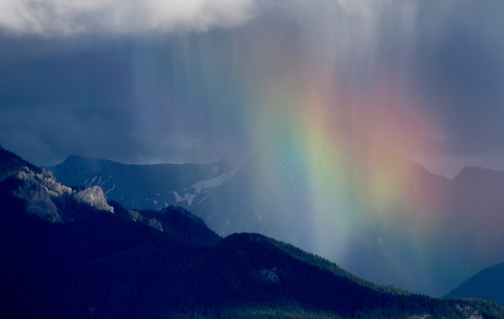 Looking for rainbows in the Columbia Valley. (Photo: M. Kopp)