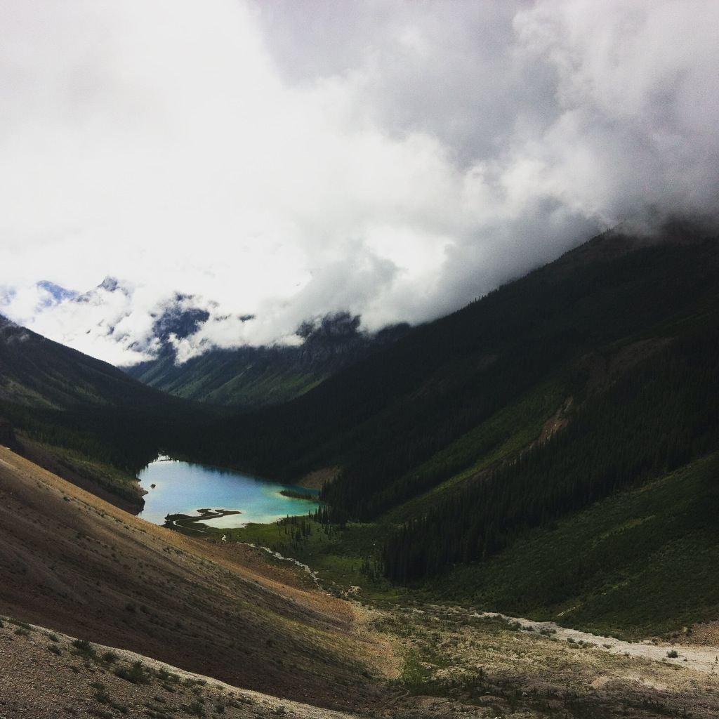 Assiniboine Lake - beauty in the clouds! (Photo: M. Kopp)